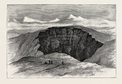 The Crater Of The Active Volcano Poster