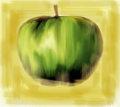 The Creative Apple Poster by Iconic Images Art Gallery David Pucciarelli