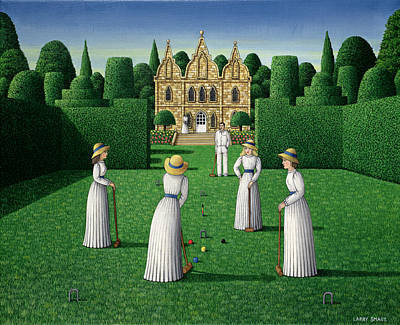 The Croquet Match, 1978 Acrylic On Linen Poster