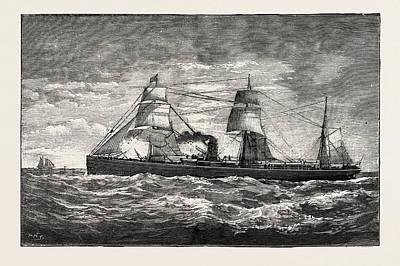 The Cunard Steamship Gallia Poster