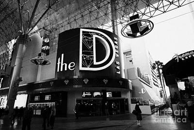 the D Las Vegas casino hotel freemont street Nevada USA Poster