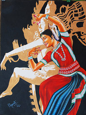 The Dance Divine Of Odissi Poster