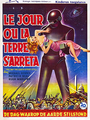 The Day The Earth Stood Still, Aka Le Poster by Everett
