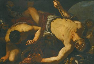 The Death Of Ajax Poster by Antonio Zanchi