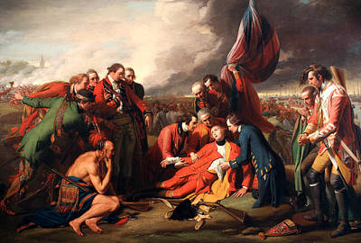 The Death Of General Wolfe Poster by Benjamin West