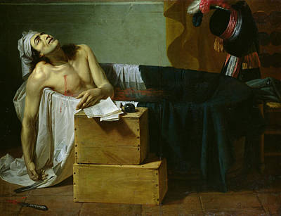 The Death Of Marat Poster by Joseph Roques