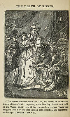 The Death Of Rizzio Poster by British Library