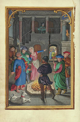 The Denial Of Saint Peter Simon Bening, Flemish Poster by Litz Collection