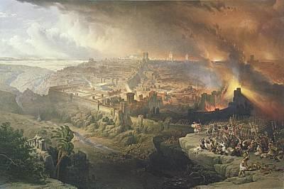 The Destruction Of Jerusalem In 70 Ad Poster