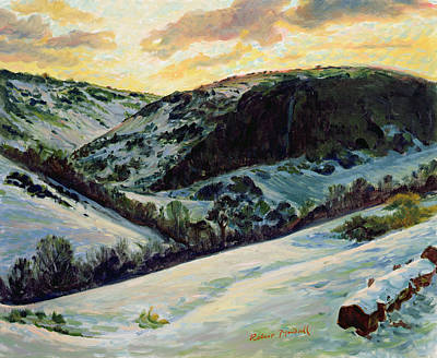 The Devils Dyke In Winter, 1996 Poster by Robert Tyndall