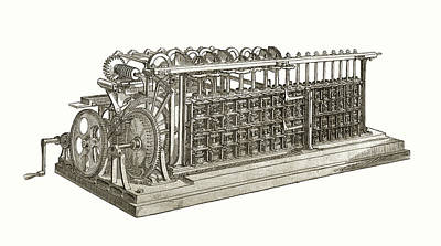 The Difference Engine By Charles Babage, Being The First Poster