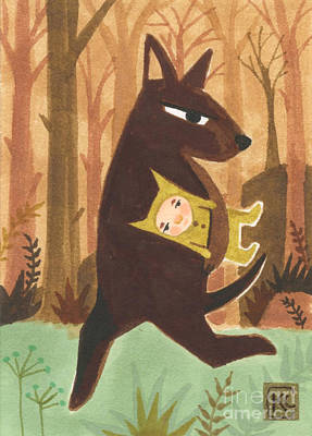 The Dingo Stole My Baby Poster by Kate Cosgrove