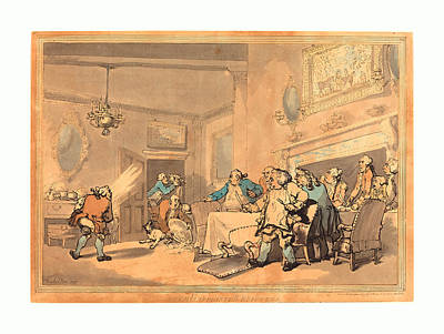 The Disappointed Epicures, 1787, Hand-colored Etching Poster by Rowlandson, Thomas (1756-1827), English