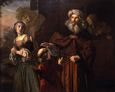 The Dismissal Of Hagar, 1650 Poster by Jan Victors