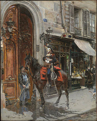 The Dispatch-bearer Poster by Giovanni Boldini