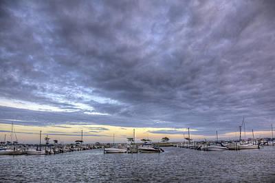 The Docks At Bay Shore Poster