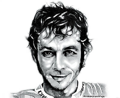 The Doctor Valentino Rossi Poster by Mike Sarda