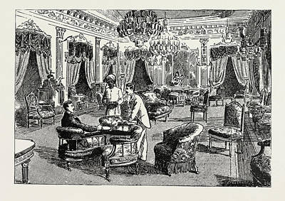 The Drawing-room Of The Nizams Palace, Prince Albert Victor Poster