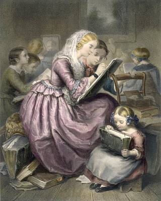The Drawing School, C.1835 Poster by French School