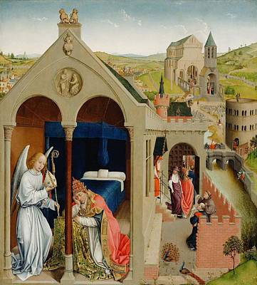 The Dream Of Pope Sergius Poster by Rogier van der Weyden
