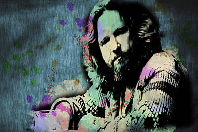 The Dude - Scatter Watercolor Poster