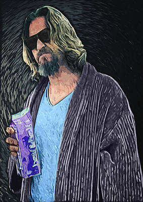 The Dude Poster by Taylan Apukovska