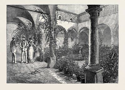 The Duke And Duchess Of Connaught In Sicily Quadrangle Poster by English School