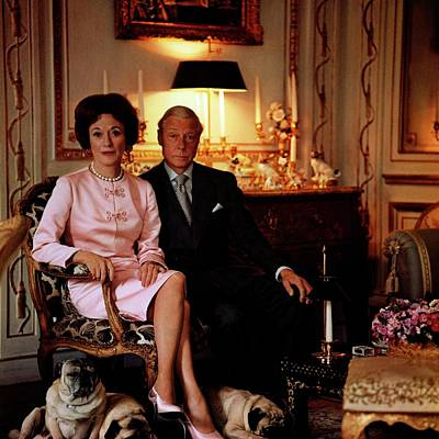 The Duke And Duchess Of Windsor In Their Paris Poster by Horst P. Horst
