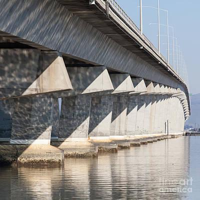 The Dumbarton Bridge In The South Bay Area California 5dimg2636  Poster