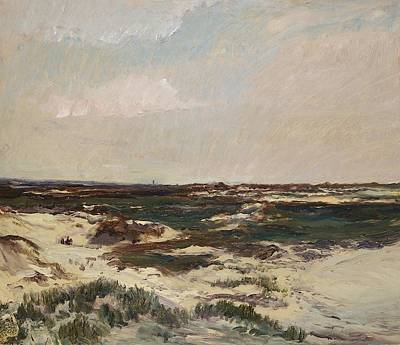 The Dunes At Camiers Poster by Charles Francois Daubigny