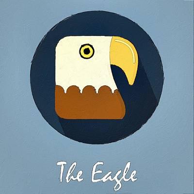 The Eagle Cute Portrait Poster by Florian Rodarte