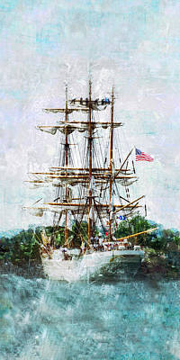 Tall Ship Eagle Has Landed Poster by Marianne Campolongo