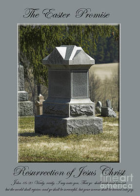 The Easter Promise Monument Card Poster