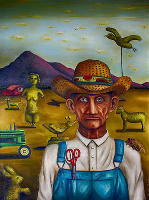 The Eccentric Farmer Edit 4 Poster by Leah Saulnier The Painting Maniac