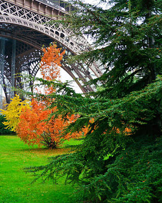 The Eiffel In Fall Poster