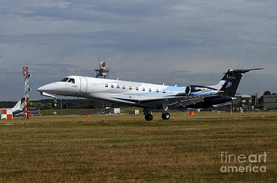 The Embraer Legacy 500 At Farnborough Poster