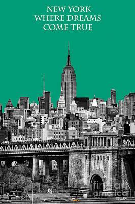 The Empire State Building Pantone Emerald Poster by John Farnan