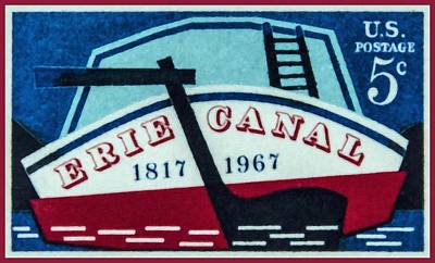The Erie Canal Stamp Poster