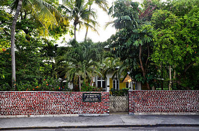 The Ernest Hemingway House - Key West Poster by Bill Cannon