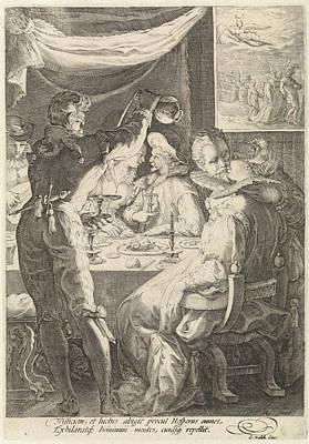 The Evening, Jan Saenredam, Cornelius Schonaeus Poster