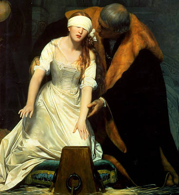 The Execution Of Lady Jane Grey Poster by Paul  Delaroche