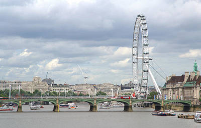 Poster featuring the photograph The Eye Of London by Keith Armstrong