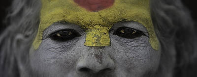 The Eyes Of A Holyman Poster by David Longstreath