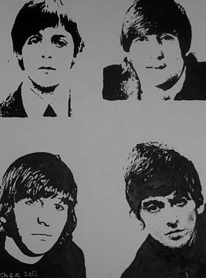 Poster featuring the painting The Fab Four by Cherise Foster