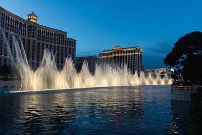 The Fabulous Fountains At Bellagio - Las Vegas Poster by Georgia Mizuleva