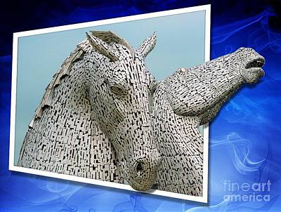 The Falkirk Kelpies  Poster by Mike Marsden