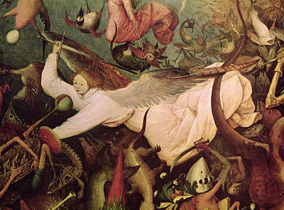 The Fall Of The Rebel Angels, Detail Of The Angel On The Left Hand Side, 1562 Oil On Panel Poster by Pieter the Elder Bruegel