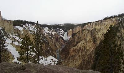 The Falls At Yellowstone Park Poster