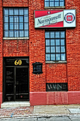 The Famous Narragansett Beer Poster by Mike Martin