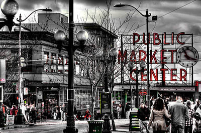 The Famous Pike Place Market - Seattle Washington Poster by David Patterson